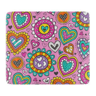 Hearts&Flowers Cutting Board