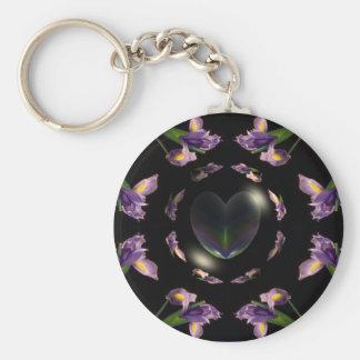Hearts & Flowers keychain by Zoltan Buday
