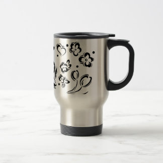 Hearts & Flowers Travel Mug