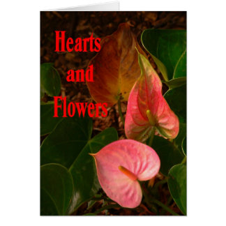 Hearts & Flowers Valentine's Day Card