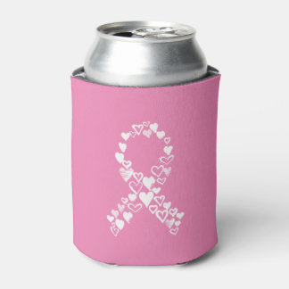 Hearts for Cancer Ribbon Can Can Cooler