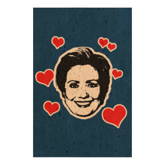 HEARTS FOR HILLARY PHOTO CORK PAPER