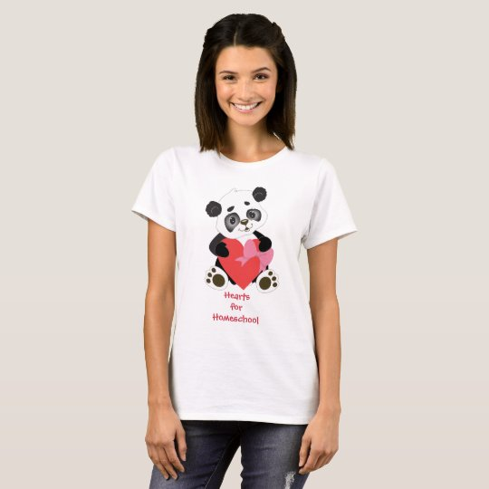 Hearts for Homeschool Panda Bear T-Shirt