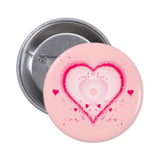 Hearts for the St Valentine s day - Button