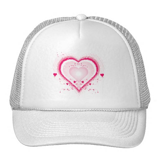 Hearts for the St. Valentine's day - Mesh Hats