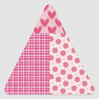 Hearts Forever Triangle Stickers