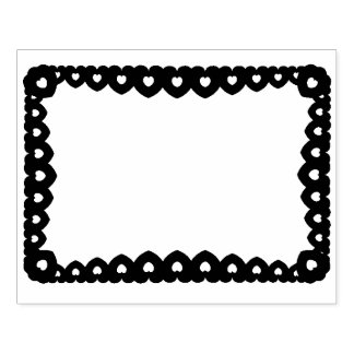 Hearts Frame Rubber Stamp
