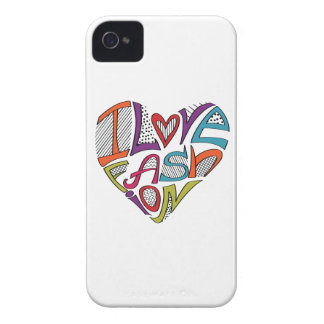 Hearts from words I love fashion iPhone 4 Covers