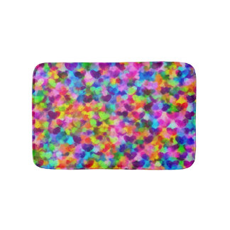 Hearts Full Of Color Bath Mat