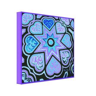 'Hearts Full of Love' Panel Print (Brights) (Blue) Canvas Print