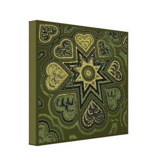 'Hearts Full of Love' Panel Print (Rustics)(Olive)
