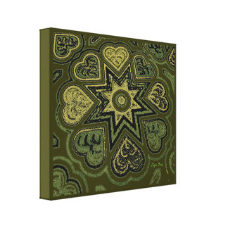 'Hearts Full of Love' Panel Print (Rustics)(Olive) Stretched Canvas Print