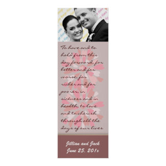 Hearts Galore WEDDING Vows Display Print