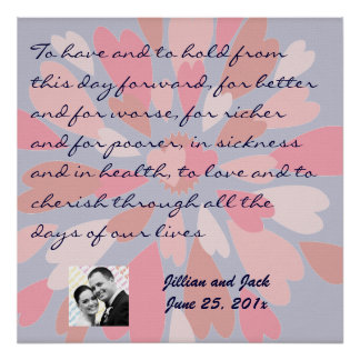 Hearts Galore WEDDING Vows Display Posters