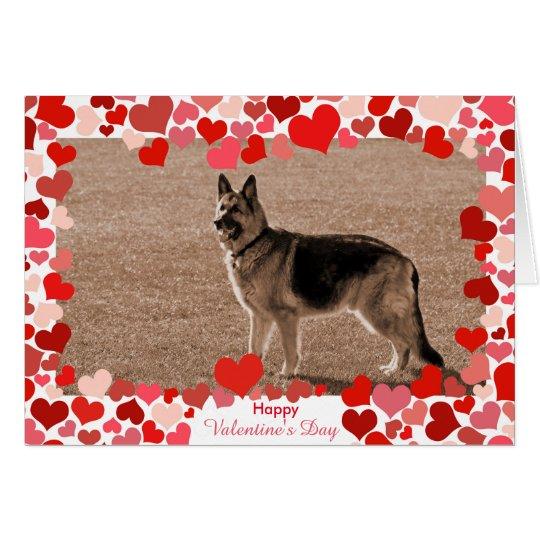 Hearts German Shepherd Valentine's Day Photo Card