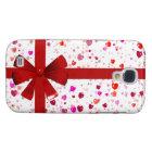 Hearts Gift Wrap Galaxy S4 Case