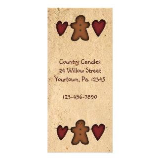 Hearts & Gingerbread Rack Card