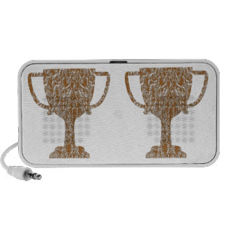 Hearts Gold Silver Engraved Portable Speakers