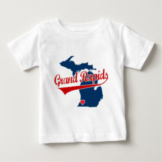 Hearts Grand Rapids Michigan Baby T-Shirt