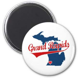 Hearts Grand Rapids Michigan Magnet
