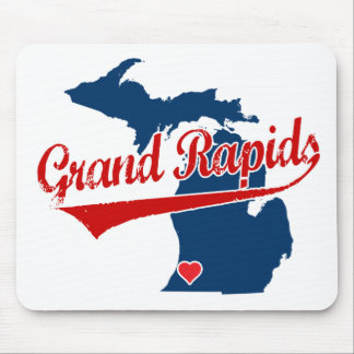 Hearts Grand Rapids Michigan Mouse Mat