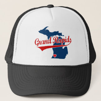 Hearts Grand Rapids Michigan Trucker Hat