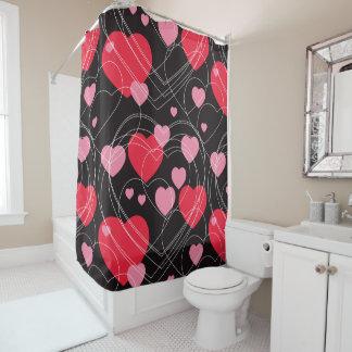 Hearts, hearts, hearts shower curtain