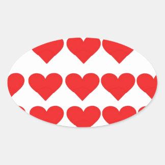 Hearts Hearts Hearts Sticker
