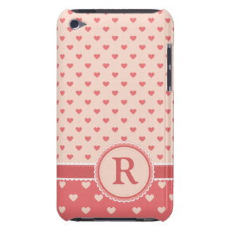 Hearts & Hearts || Pink || Your Initial iPod Touch Covers