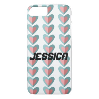 Hearts in a Row phone case