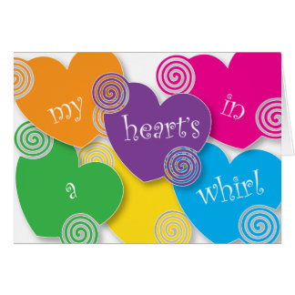 Heart's in a Whirl Valentine Card