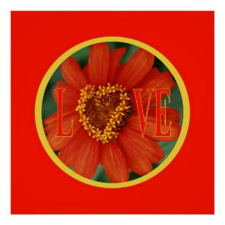 Hearts in bloom / Love Poster
