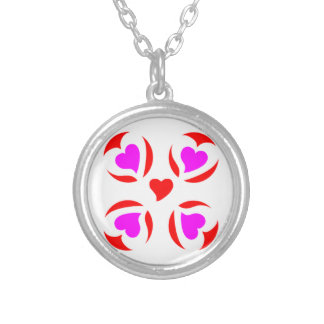 hearts in circle necklace