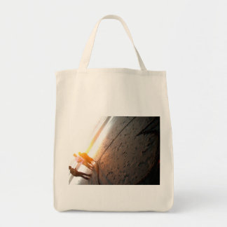 Hearts in the Sand Grocery Tote Bag