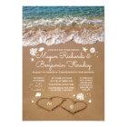 Hearts in the Sand Summer Beach Wedding Card