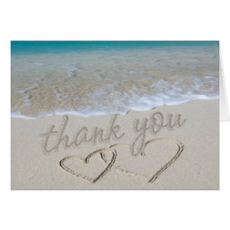"Hearts in the Sand ""Thank You"" Card"