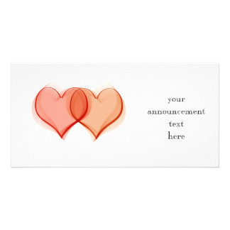 Hearts intertwined, your announcement text here personalised photo card