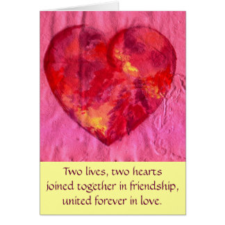 Hearts joined in Love Card