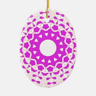 Hearts kaleidoscope Art Christmas Ornament