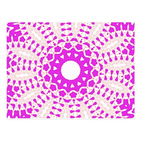 Hearts kaleidoscope Art Postcard