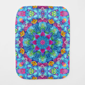 Hearts Kaleidoscope     Burp Cloth