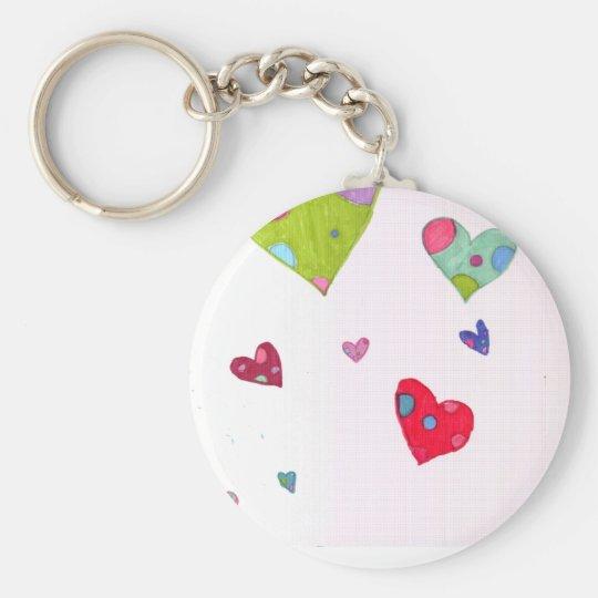 Hearts Key Ring