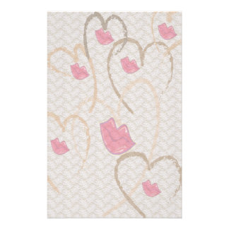 Hearts Kisses and Lace Stationary Personalized Stationery