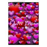 "Hearts Love and Diamonds ""I Love You"" Card"