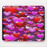 Hearts Love and Diamonds Mouse Mat