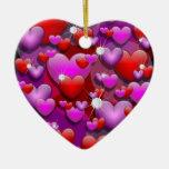 Hearts Love and Diamonds Ornament
