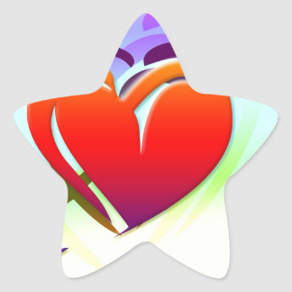 Hearts Love Colorful Digital Art Destiny Stickers