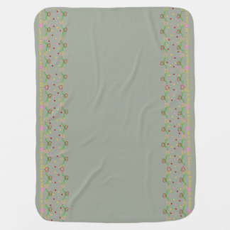 Hearts Love is All Soft Gray Baby Blanket