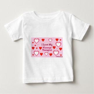 Hearts: Love My Massage Therapist Baby T-Shirt