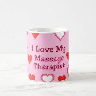Hearts: Love My Massage Therapist Basic White Mug